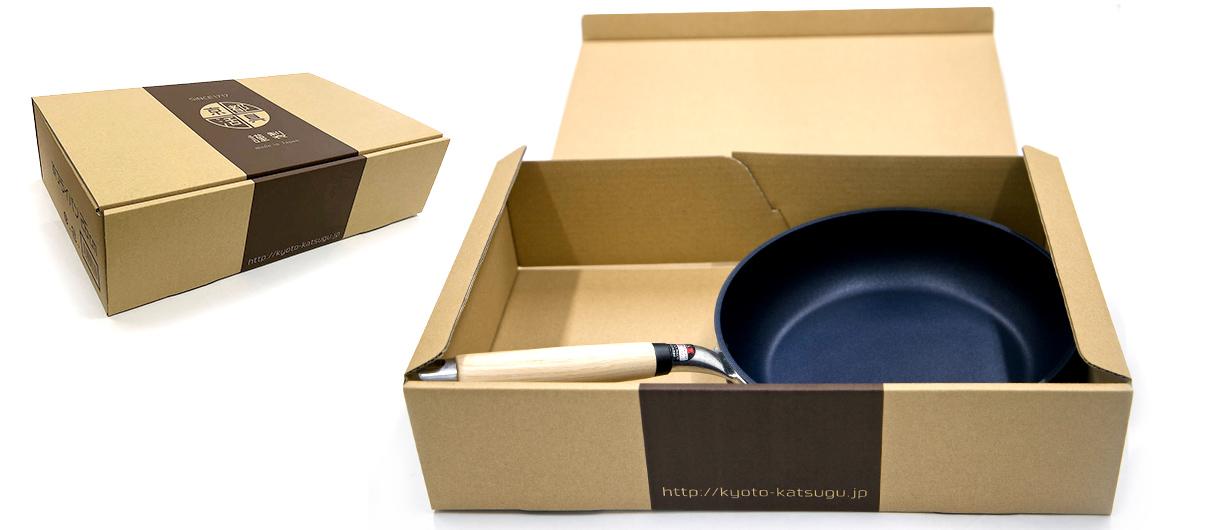 京都活具-アルミ鋳物フライパン 商品箱
